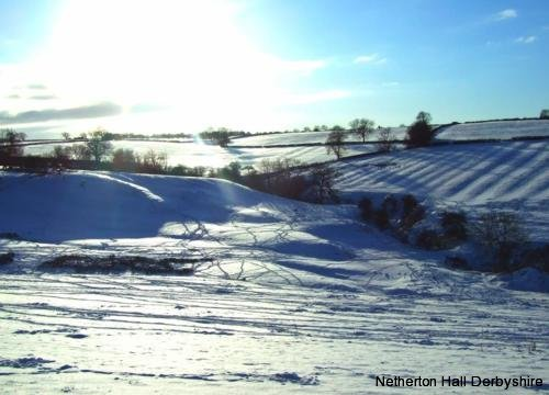 Netherton on a Snowy Winters Day
